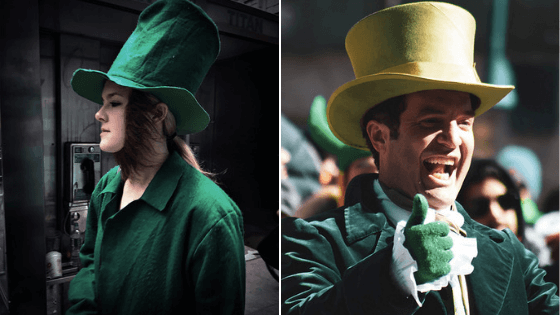 The wearing of the green St Patrick's Day