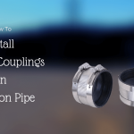 Install No Hub couplings on cast iron pipe